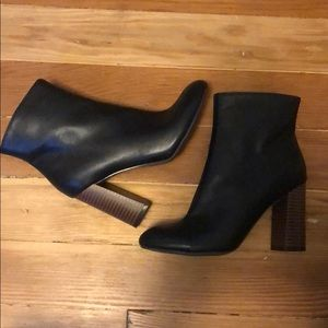 Black Merona Heeled Ankle Boots